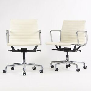 2012 Eames Herman Miller Aluminum Group Management Desk Chair 25x Avail White