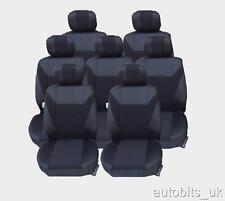 JEU COMPLET NOIR 7X TISSU HOUSSE DE SIÈGE / SELLE 7 PLACES POUR VW SHARAN MPV