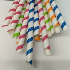 More details for biodegradable paper drinking straws individually wrapped,12 x 210mm,smoothie