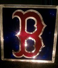 Lighted Boston Red Sox Glass Block Light~ Home Decor~Gift~Lamp