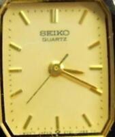 Seiko SX 2Y01-5D30 Gold T Silver T Watch Analog Quartz New Battery Vintage Woman