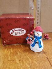 "San Francisco Music Box Co. Snowman Mini Figurine Plays ""Frosty the Snowman"" Box"