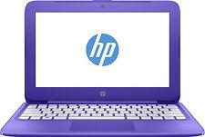 "HP Stream 11.6"" Purple 32GB 2GB Intel Celeron N3060 Windows 10 Laptop - 11-y051s"