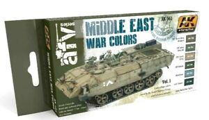 AK Interactive Middle East War Colours Vol.1 Acrylic Paint Set For Models
