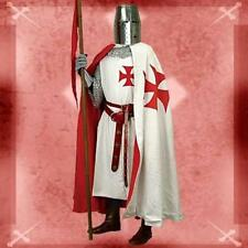 MEDIEVAL KNIGHT Crusader Middle Ages Men Cotton TEMPLAR CAPE with RED LINING New