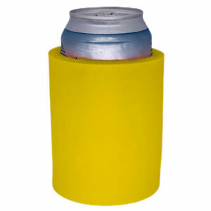 """Blank Thick Foam """"Old School"""" Style Can Coolers; choice of color, quantity"""