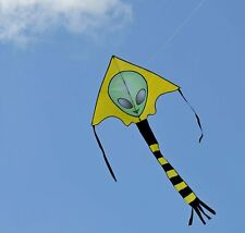 Weifang New Sky Kites Large Easy Flyer Big Alien Face Kite 7 X 4 Ft with String