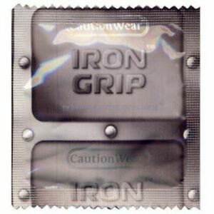 Caution Wear Iron Grip Snugger Fit Small Bulk Condoms - Choose Quantity