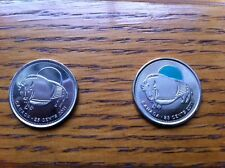 "CANADA, 2011, ""BISON ~ WILD BUFFALO -  COLOR + REGULAR OF 25 CENTS COINS"