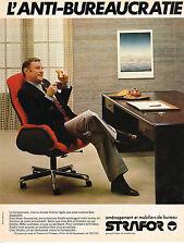 PUBLICITE ADVERTISING 044   1979    STRAFOR  mobilier bureau