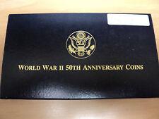 World War II 50TH Anniversary 3 Coin Set