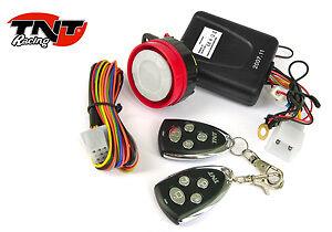 Alarme avec sirène télécommande coupe circuit Moto Quad Scooter Booster NEUF