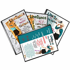 Line Dance 4 DVDs  - Have FUN Exercising Line Dancing