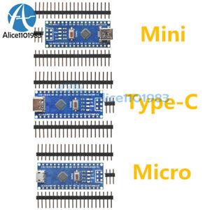 1/2/5/10PCS Nano V3.0 USB 5V Mini/Type-C/Micro ATmega328 CH340G Kit For Arduino