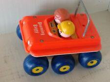 Fisher-Price-Bouncing-Buggy-Pull-Toy-With-String-122-Little-People-Vintage-1973
