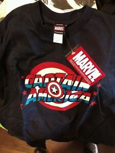 Capt.America T-shirt CHOOSE L OR 2XL NWT Vintag 2001 NEW Ghost images Blacklight