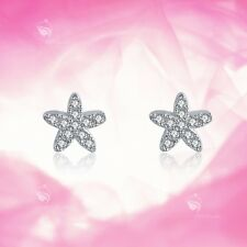925 silver earrings simulated diamond sea star stud kids baby celebration gift