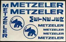 PLANCHE LOT D AUTOCOLLANTS METZELER STICKERS TYRE MOTO STICKER TRANSLUCIDE