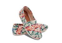 TOMS Womens Multi Burlap Tropical Classics Slip On Pumps Plimsolls Sneakers UK 3
