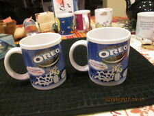 2 mug cup OREO Cookies Moo Cow Houston Harvest Gift 9 out of 10 Households