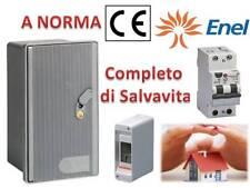 KIT Contenitore Cassetta Per Contatore  Enel 220V con salvavita a norma CE