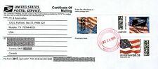 USA 2x APC / ATM / CVP ERROR stamps on USPS Form 3817