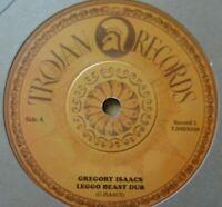 "GREGORY ISAACS / ROOTS RADICS - Leggo Beast Dub 7"" Vinyl Trojan DUB REGGAE ROOTS"