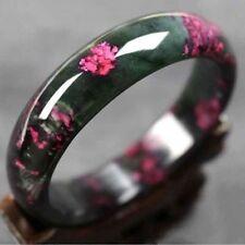 60MM Beautiful Peach Blossom Hetian Jade Bangle 100%Natural Hand-Carved-Bracelet