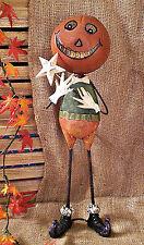 ❀ Halloween Metallfigur Kürbiskopf Windlicht 54cm Kürbis Grinsend Handarbeit 304