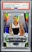 Stephen Curry 2009-10 Panini Certified Materials Rookie RC #/599 PSA 8