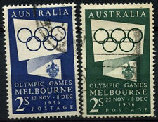 Australia 1954-5 SG#280-280a Olympic Games Used Set #D37818