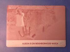 Cryptozoic Orphan Black Season 1 Allison Is On Neighborhood Watch Printing Plate