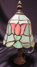 TIFFANY STYLE ~ STAINED GLASS ACCENT LAMP ~ SMALL BEDSIDE NIGHTLIGHT ~ 7 watt