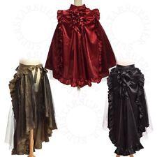 Vintage Medieval Ruffle Bustle Skirt Cape Reenactment Dual Purpose Costume