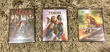 Thor, Thor the Dark World, and Thor Ragnarok 3-DVD Trilogy Bundle Brand New