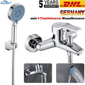 Badewannenarmatur Duschset Wasserhahn Badewanne Wasserfall mit 5Funktione Brasue