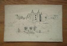 Très beau dessin ancien Le château de Miolans à St Saint Pierre d'Albigny Aiton.