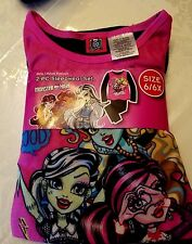 Newest New Girls MONSTER HIGH Flannel Pajamas 2 piece Sleep wear Set Size 6/6x 6