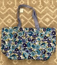 NEW VERA BRADLEY LIGHTEN UP LARGE FAMILY TOTE BAG Blueberry Blooms NWT C