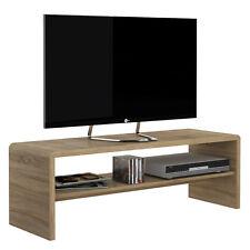 Ferrer Modern Oak Effect Wide Coffee Table / TV Unit with Shelf 120cm 40cm 40cm