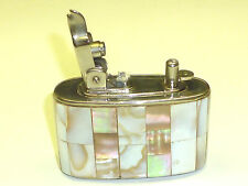 ELFA SEMI-AUTOMATIC TABLE LIGHTER W. MOTHER OF PEARL CASE - 1953 - GERMANY-RARE