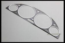 CARBON GAUGE BEZEL TRIM EMBLEM CHROME RING FOR BMW E38 E39 E53-X5 M TECH 520I