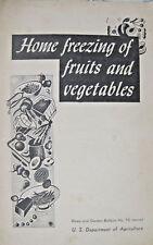US Dept of Agriculture 1957 Home Freezing Fruits Vegetables Ad Booklet Pamphlet