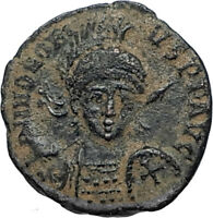 HONORIUS Genuine Ancient 401AD Antioch Roman Coin CROSS CONSTANTINOPOLIS i67063