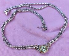 Link Necklace 14K Gold Rhodium P 16 John Medeiros Nouveau Peridot Cz Snake Chain