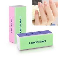 2/5/10x Nail Art Manicure 4Way Shiner Buffer Buffing Block Sanding JH