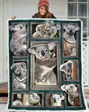 Koala Bear 3D Picture Frames Fleece Blanket