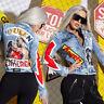 By Alina MEXTON Damenjacke Jeans Jeansjacke Übergangsjacke 34 - 38 #C926