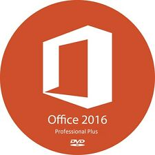 Microsoft Office Professional Plus 2016 32 & 64bit auf DVD