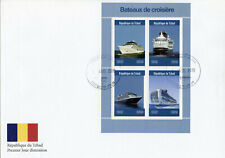 Chad 2019 FDC Cruise Ships 4v M/S Cover Bateaux Martime Nautical Boats Stamps